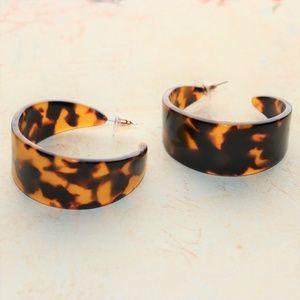 Jewelry - New 80s Inspired Geometric Acrylic Hoop Earrings